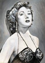 "Gloria Grahame en ""The big Heat""/""Los sobornados"". Fritz Lang. 1953. 13x18 cm. Acrílico sobre papel. VENDIDO"
